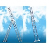 Лестница-стремянка трехсекционная универсальная Алюмет 5312-3x12